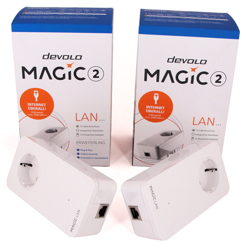 Das devolo Magic 2 LAN Starter Kit im Test.