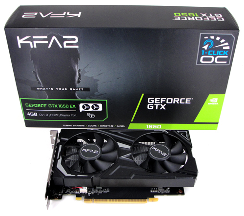 KFA2 GeForce GTX 1650 EX (1-Click OC) Review
